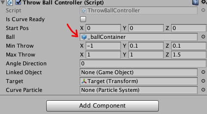 _ballContainer Settings