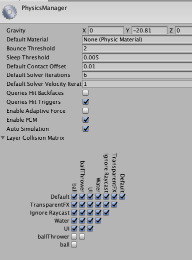 physics settings