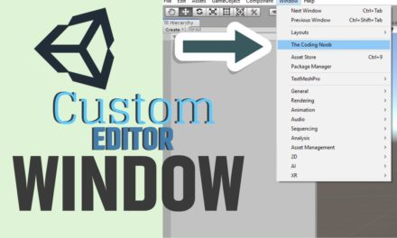 Creating your own Unity Editor Window